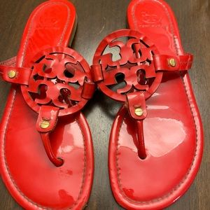 Tory Burch red logo sandals